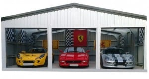 Steel Triple Garages